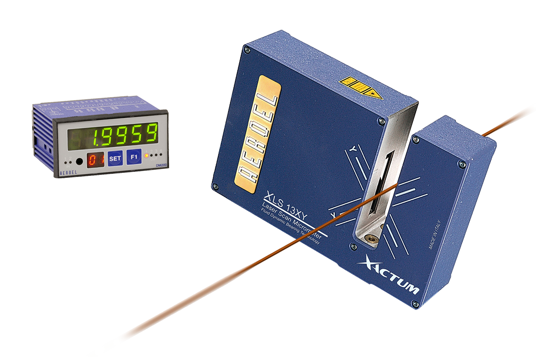 In Line Contactless Gauging Of The Magnet Wire