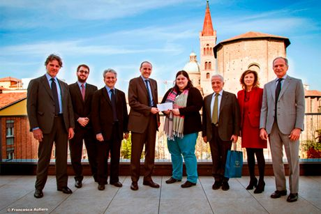 <em>from the left: Alberto Possati, Francesco Possati, Michael G. Plummer, Alberto Vacchi, Ekaterina Soubeva, Stefano Possati, Tiziana Ferrari, Edoardo Possati</em>