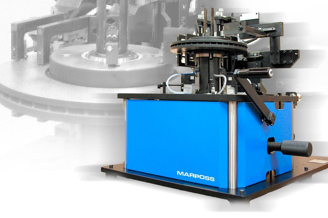 Manual Gauge Station to Check Disk-Like Components (Brake Disks, Drums, Hubs)