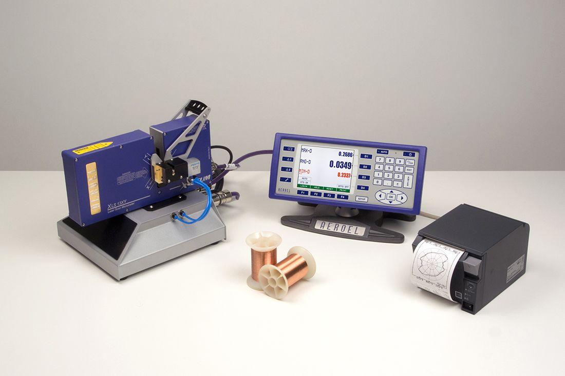 Lasermikrometer-Tischgerät