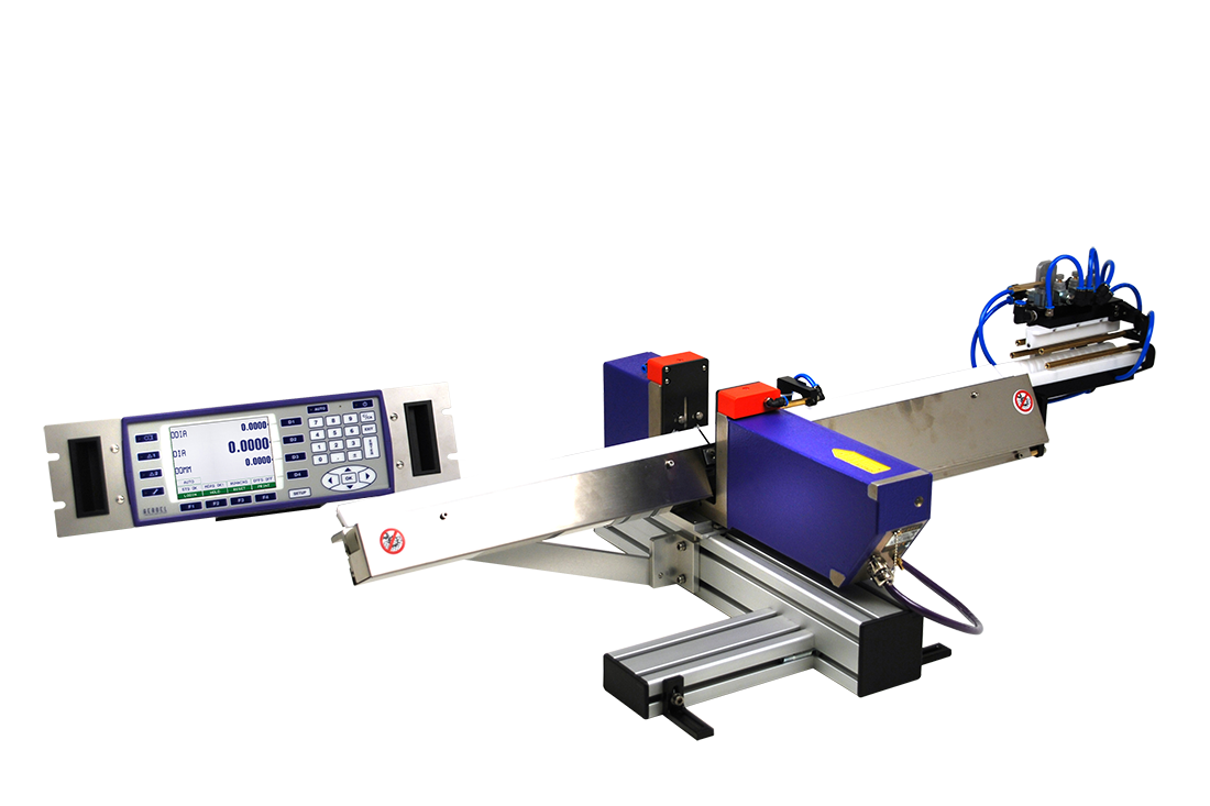 Laser System for Through-feed, Single Diameter Measuring and Grinder Regulation