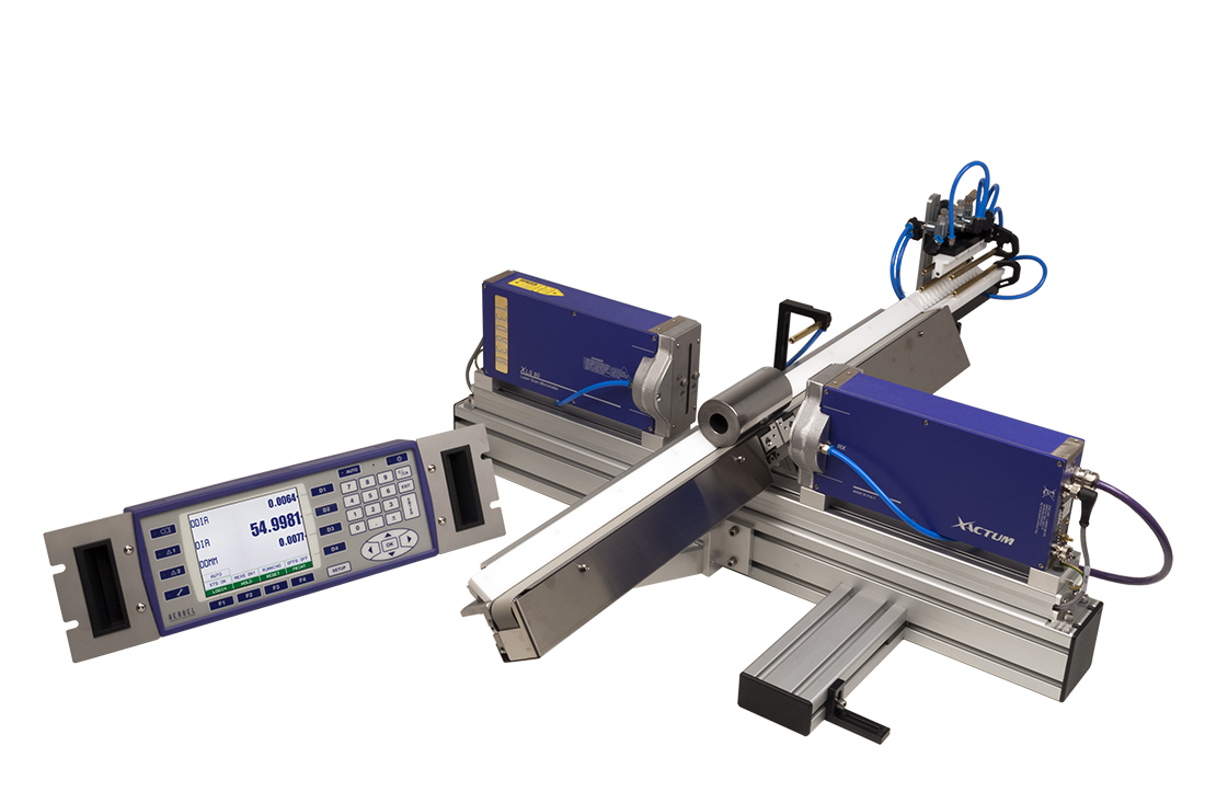 Laser System for Through-feed, Multi-diameter Measuring and Grinder Regulation